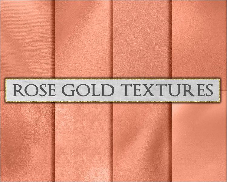 Rose Gold Paper Texture Design