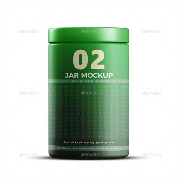Round Plastic Jar Mockup