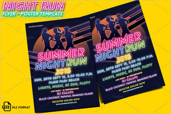 Running Race Flyer Template
