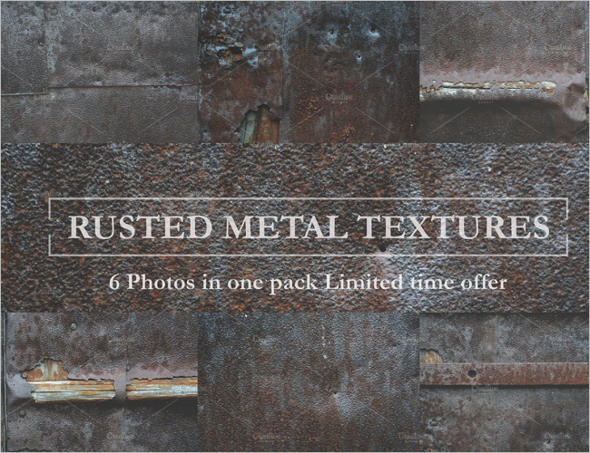 Rusted Metal Wall Texture Design