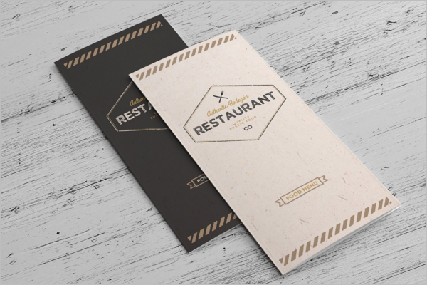 Rustic A4 Menu Template