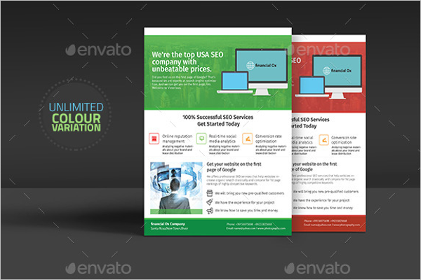 SEO Marketing Flyer Template