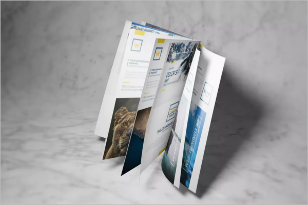 SampleA4 Brochure Mockup Template