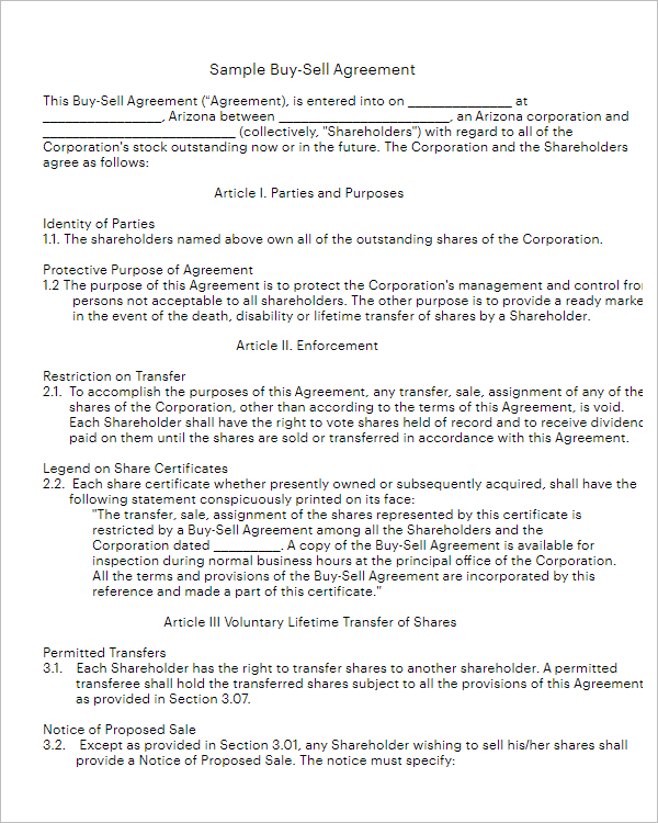 Sample Agreement Form Template