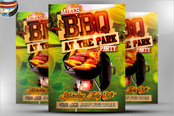 Sample BBQ Flyer Template