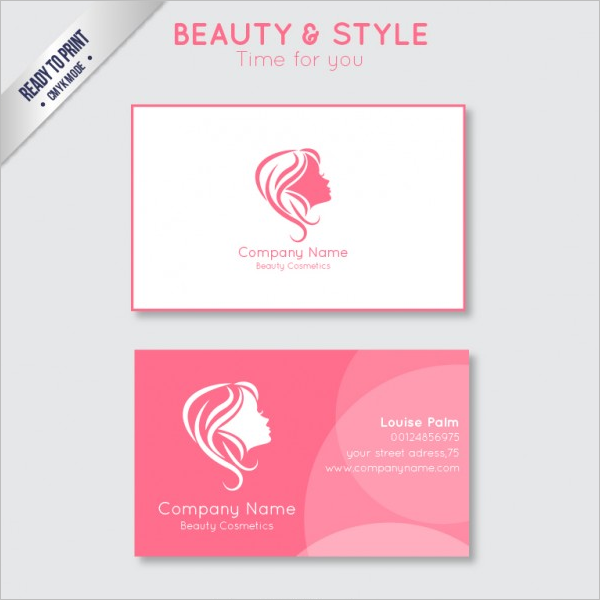 Sample Beauty Business Card Template