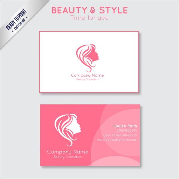 Sample Beauty Business CardTemplate