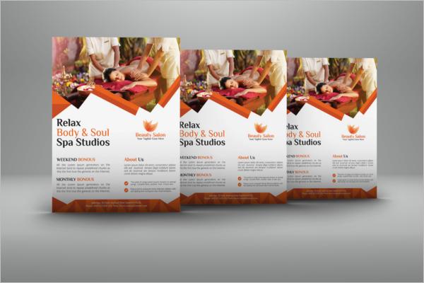 Sample Beauty Salon Flyer Design