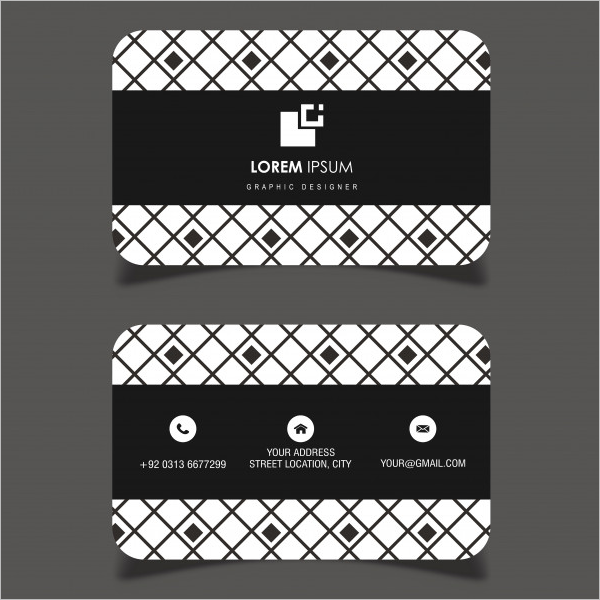 Sample Black & White Business Card Template