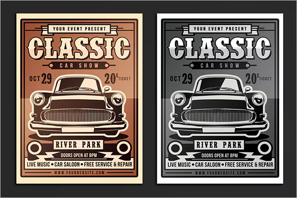 Car Show Flyer Templates Free PSD Word Samples - Free car show flyer template