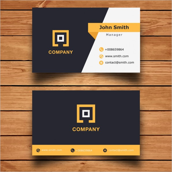 Sample Corporate Business Card Template