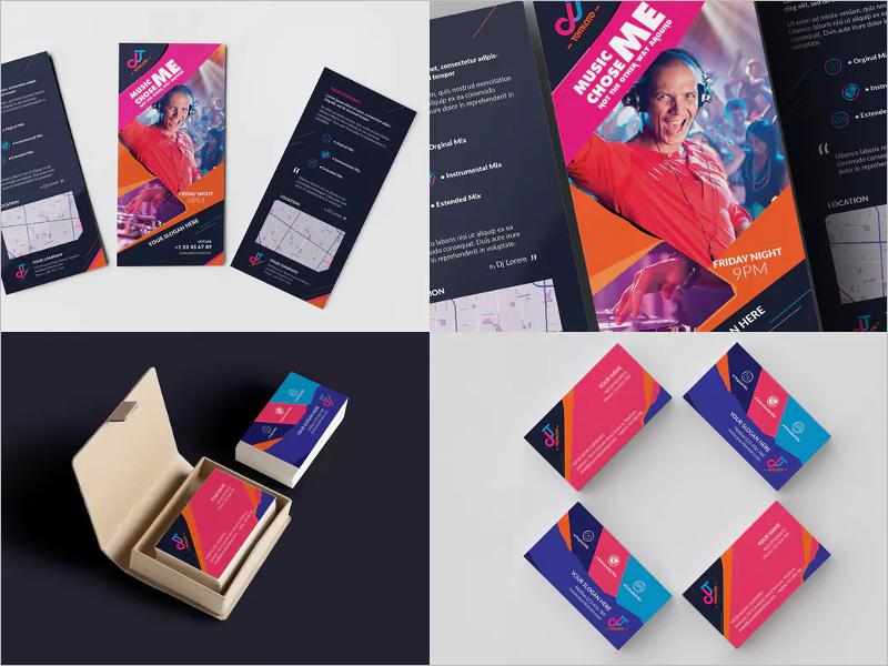 SampleDj Business Card Design