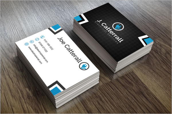 Sample Electric Pride Business Card Design