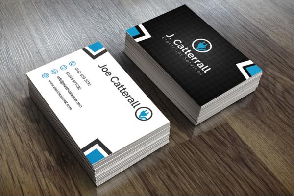 Sample Electric Pride Business Card Design