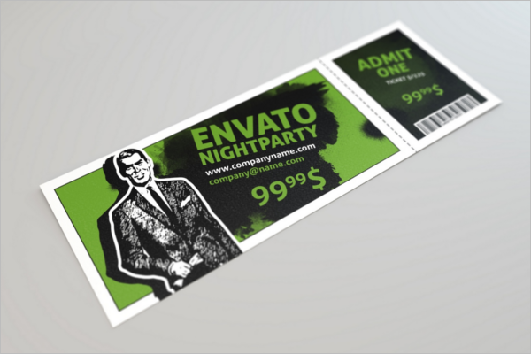 Sample Event Ticket Mockup Design