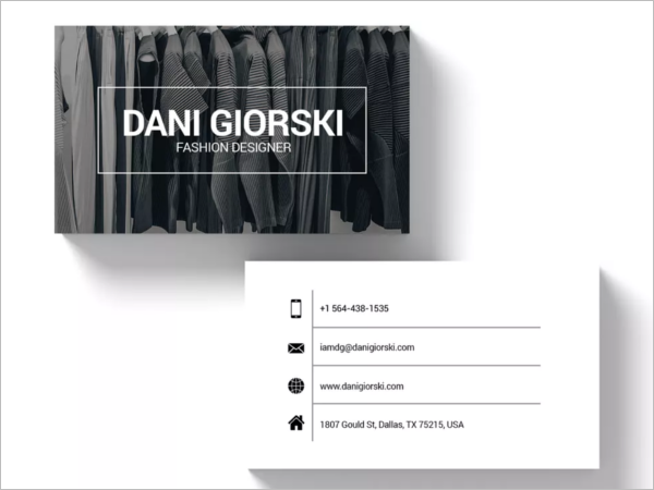 Sample Fashion Business Card Template
