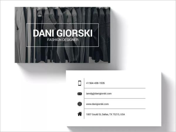 Sample Fashion Business Card Template