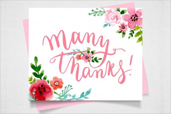 Sample Floral Thank You Card Design
