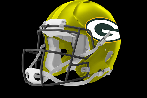 Sample Football Helmet Mockup Design