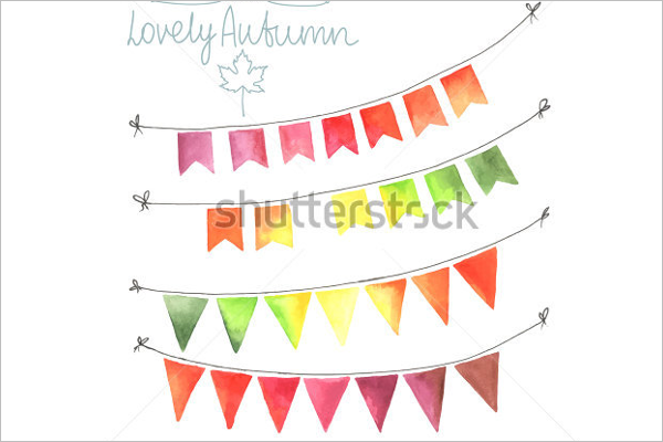 Sample Pennant Banner Template
