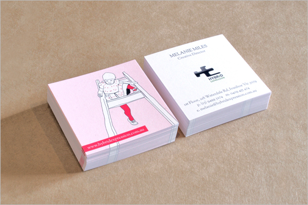 Sample Personalised Square Business Card