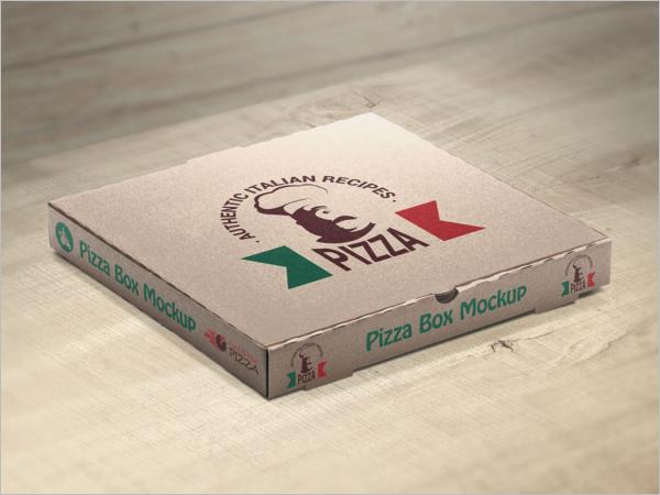 SamplePizza Box Mockup Design