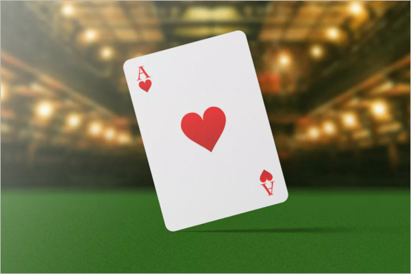 Sample Playing Cards Mockup Design