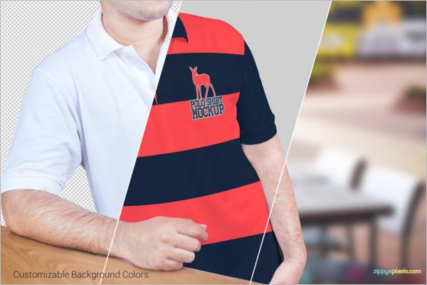 SamplePolo t-Shirt Mockup Design