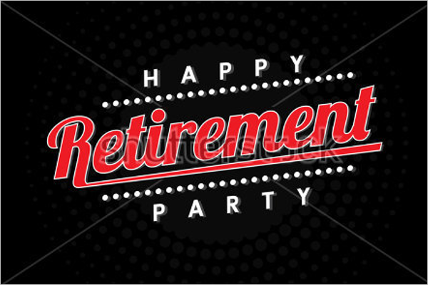 Sample Retirement Banner Template