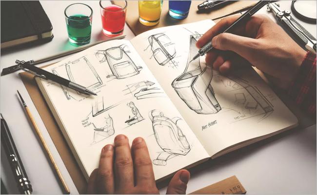 Sample Sketchbook Mockup Design