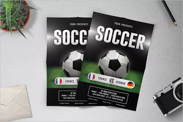 Sample Soccer Flyer Template