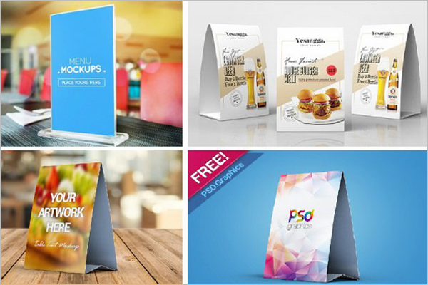 Sample Table Tent Mockup Design