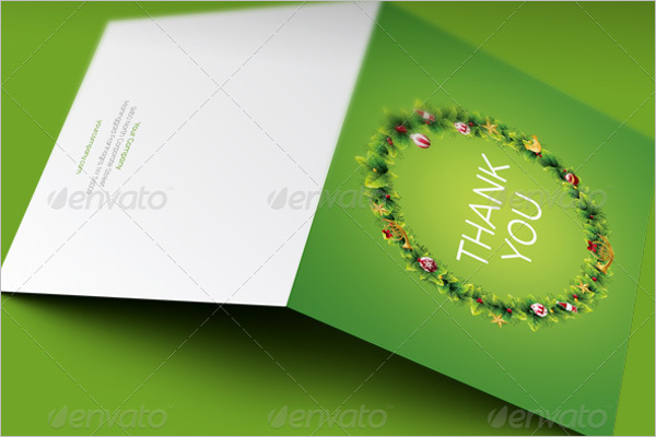 Sample Thank You Business Card Template