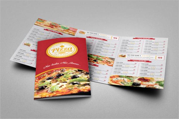 Sample Tri-Fold Menu Template