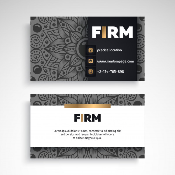 Sample Vintage Business Card Template