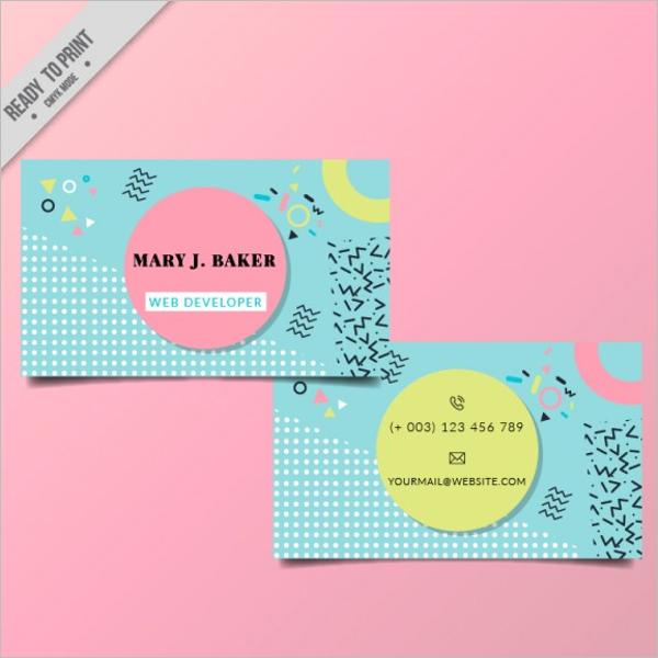 Sample Web Developer Business Card Design