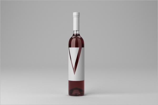 Sample Wine Bottle Mockup