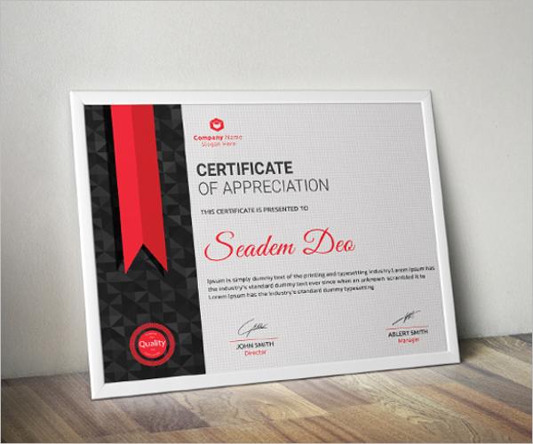 Sample Word Training Certificate