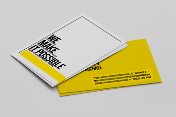 Sample Yellow Business Card Template