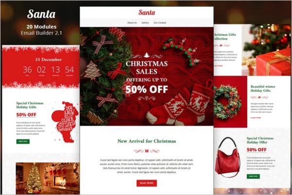 Santa Email Design