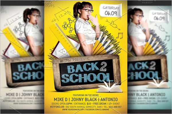 School A5 Flyer Template