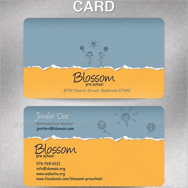 School Teacher Business Card Template