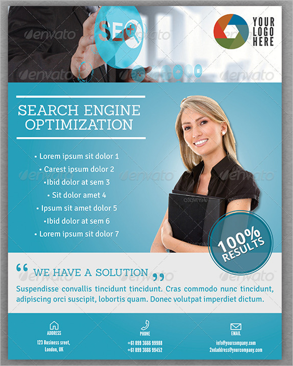 Search Engine Optimization Flyer Design