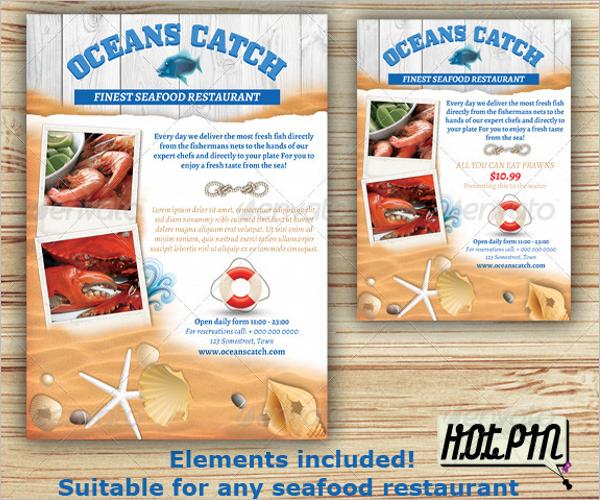 Seefood Restaurant Flyer Design