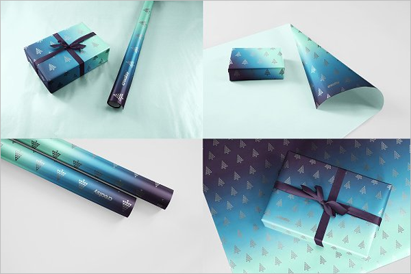 Set Of Gift Paper Mockup Design