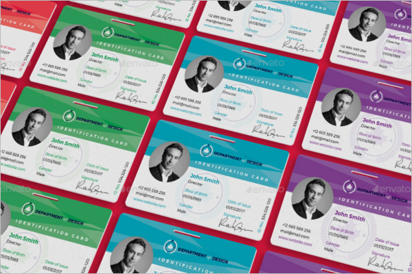 Set Of ID Card Template