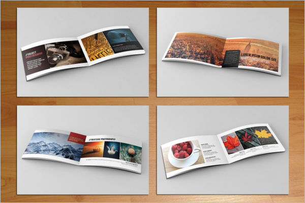 Set Of Landscape Brochure Template