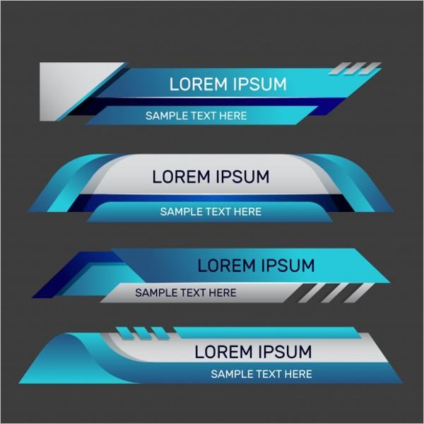 Set Of Modern Banner Template