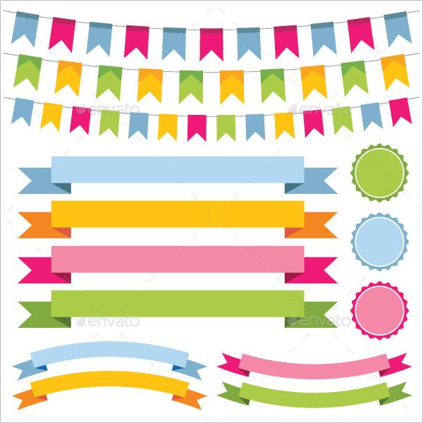 Set Of Pennant Banner Design
