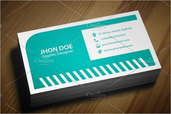 Set Of Police Business Cards